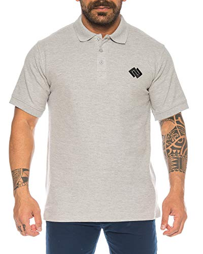 Raff & Taff Herren Poloshirt Polohemd Shirt Basic Polo Kurzarm (3XL, Hellgrau)