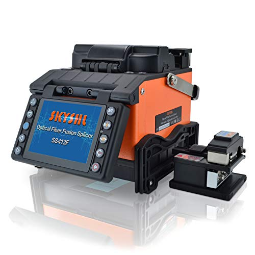 SKYSHL Core Alignment Optical Fiber Fusion Splicer (With 4pairs Electrodes) FTTH Auto Fiber Splicing Machine for SM MM DS NZDS...