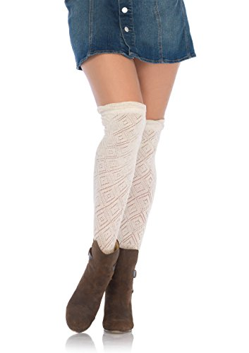 Leg Avenue Overknee-kousen in crochet-look.