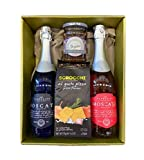 CASIMEX Coffret Moscato Rose/Moscato/Crackers Scrocchi Pizza/Confit de Figues 0.75