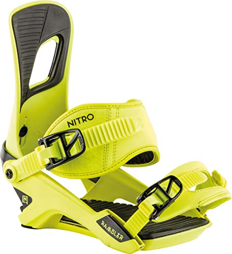 Nitro Snowboards Herren Rambler Bdg'19 All-Mountain Highend Snowboardbindung komfortable Allroundbindung Bindungen, Toxic, L