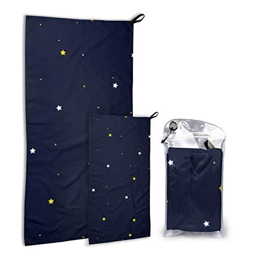Lawenp Juego de Toallas de Viaje de Microfibra Star Wallpaper, Paquete de 2 Grandes (37,5 x 55 Pulgadas, 16 x 32 Pulgadas) para Deportes, Caza, Toalla de Playa