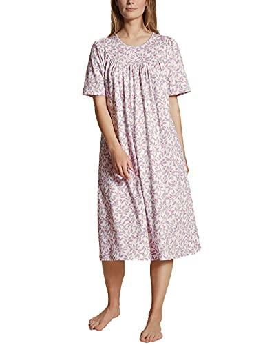 CALIDA Damen Soft Cotton Kurzarm Nachthemd, Lavender Fog, 40-42
