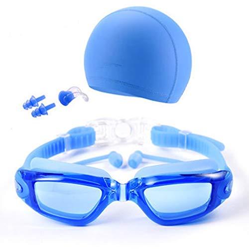 Schwimmbrillen taucherbrille Kinder mit Nasenschutz, Erwachsene Frauen, Jugendkind, Triathlonausrüstung, mit verspiegeltem und klarem Antibeschlag, wasserdicht