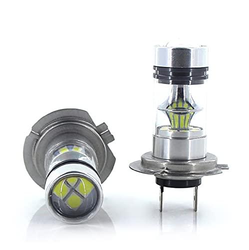 NERR YULUBAIHUO 2X H7 LED Bombilla Super Bright 20SMD 3030 1200LM Luces antiniebla de automóviles 12V 24V Día de conducción Blanca Lámpara de ejecución Auto LED H7 + CANBUS Decoder (Socket Type : H7)