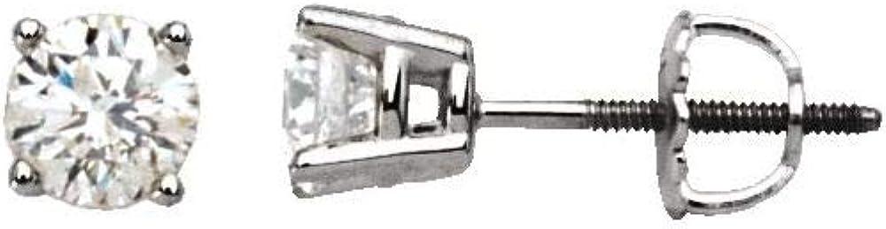 2.0 Cttw Excellence Diamond Stud = Earrings 6.5mm Width Store