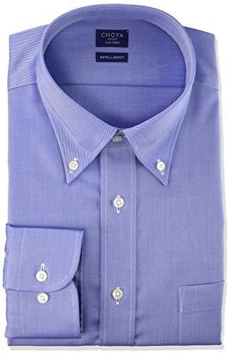 [チョーヤ] CHOYA SHIRT FACTORY 長袖メンズワイシャツ 日清紡アポロコット CFD934 250-サックス-ボタンダウン 日本 38-78 (日本サイズS相当)