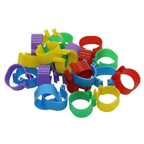 DGZZI Poultry Leg Ring 75PCS 5 Colors 16mm Number Mark Poultry Bands Foot Ring Buckle Leg Clip for Pet Pigeon Chicks Duck