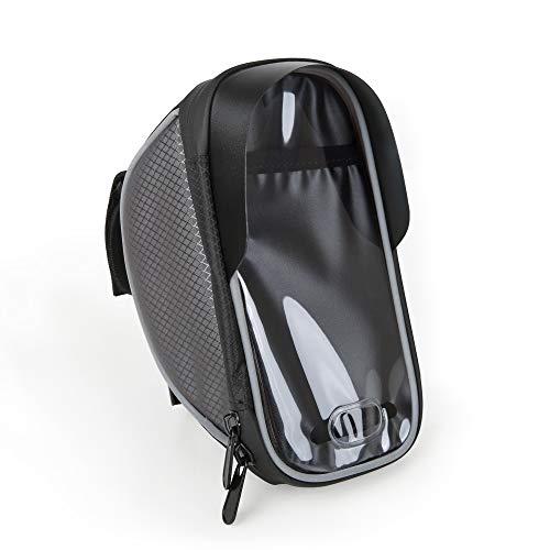 Edaygo Handyhalterung für Fahrrad mit Lenkertasche und Touch-Folie wasserdichte Fahrradlenkertasche für Smartphones bis 6 Zoll