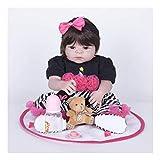 """Realistic Reborn Babies Memory Aids Full Silicone Reborn Doll Simulación Baby Doll 22""""para niños de 3 años o más"""