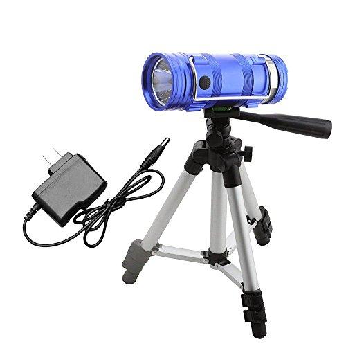 JKUNYU LED Linterna camping linternas azul linterna blanca Pesca de la lámpara de doble fuente de luz de la lámpara recargable de la noche luz de la pesca for el trabajo de caza uso doméstico linterna