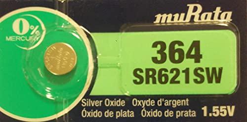 村田製作所 ムラタ(旧ソニー)364 SR621SW 1個 ボタン電池 sr621sw 1.55V 海外パッケージ (SR621SW)