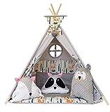 Izabell Tente de jeu pour enfants Teepee Tipi Set pour enfants intérieur extérieur tente tente indienne tipi avec fenêtre tipi avec accessoires