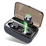 Auriculares Inalambricos Bluetooth 5.0, Donerton IPX8 Impermeable Auriculares Bluetooth con 3500mAh Caja de Carga, Estéreo Mini Twins In-Ear Auriculares con micrófono, Pantalla LED & Control Tactil