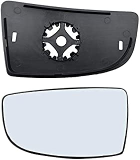 Brand New Driver Left Side Mirror Replacement Lower Glass with Plate fit Ford Transit 150 250 350 from 2015-Onward