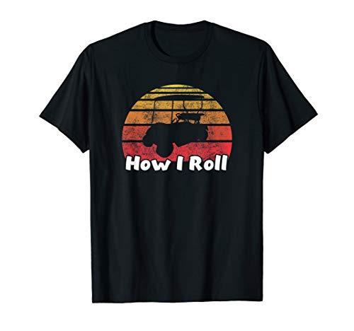 Retro Vintag, wie ich Golfmobil rolle T-Shirt
