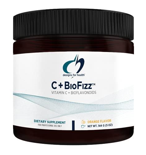 Designs for Health Fizzy Vitamin C Drink Powder - C+BioFizz, High Potency Vitamin C Powder with Bioflavonoids - Immune + Antioxidant Support Drink Mix Supplement (36 Servings / 144g)