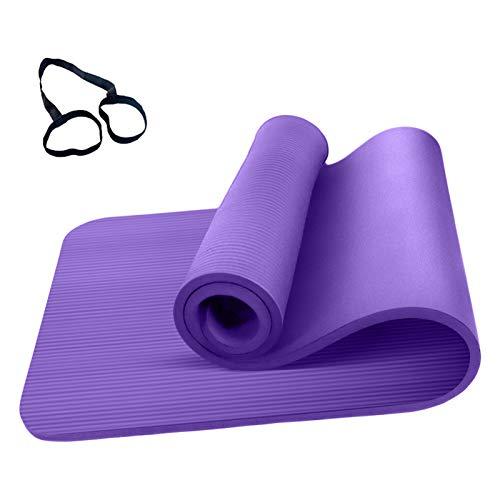 Roeam Yogamatte Rutschfest, Yogamatte 1cm Dicke, Yoga Matte, Fitness Sportmatte, Fitnessmatte, Gymnastikmatte für Damen Herren, 183cm x 61cm, Lila