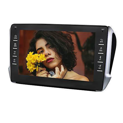 Autoradio Android 10 Stereo con touch screen capacitivo da 9 pollici per Peugeot (2008/208) 2014 2015 2016 2017 2018, navigazione GPS per auto Supporta telecamera per retrovisore SWC USB Bluetooth