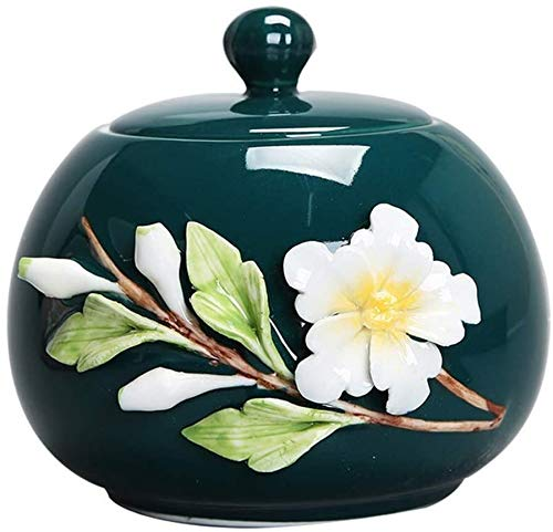 縦断勾配 Urnas para Cenizas Adultos Urna de cremación para Cenizas Tarro funerario para Mascotas, Recuerdo de Ceniza de cerámica Weng.