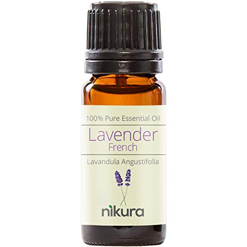 Nikura 100% Pure French Lavender Essential Oil 10ml, 50ml, 100ml (10ml)