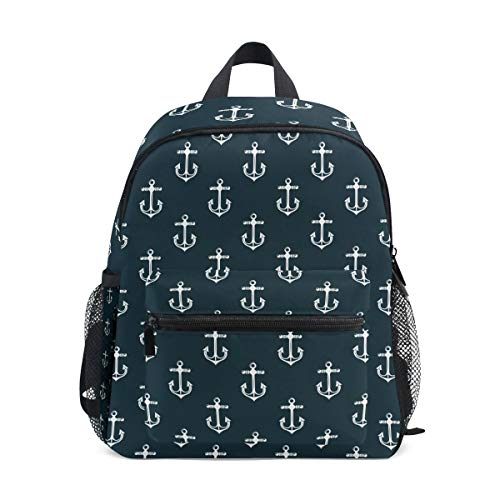 Angle Fishhook Toddler Backpack Bookbag Mini Shoulder Bag for 1-6 Years Travel Boys Girls Kids with Chest Strap Clip Whistle