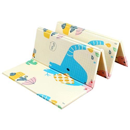 ZI LING SHOP- Tapis de jeu pour enfants pliable bébé Tapis rampant épaissir mousse double face étanche enfants jouant à la gym tapis cadeau idéal pour bébé blanket