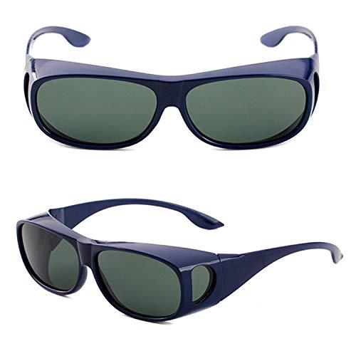 Perfectmiaoxuan Gafas de Sol Polarizadas para llevamos gafas graduadas para hombre mujere/Gafas de sol cubren gafas graduadas Excelentes para Ciclismo Pescar y Conducir (blue A, 65)