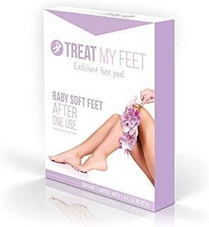 Foot Peel Mask to Exfoliate Feet. Two Pair of a Softer Foot Peeling Mask to Repair Rough Heels, Peel Away Dry Dead Skin and Smooth Cracked Heels