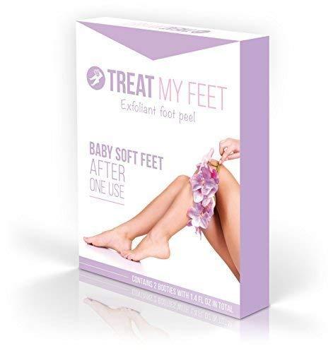 Foot Peel Mask to Exfoliate Feet. Two Pair of a Softer Foot Peeling Mask to Repair Rough Heels, Peel...