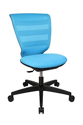 Topstar X-Pander Junior, ergonomischer Kinderdrehstuhl, Schreibtischstuhl, Stoff, Hellblau