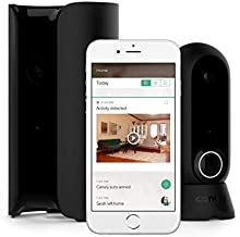 Canary View and Flex + 1-Year Premium Service Plan | Indoor Outdoor Surveillance Home Security | WiFi, HD, Cloud Storage | Smartphone App Alerts, Two-Way Talk, (Android, Alexa, iOS, Google), Black