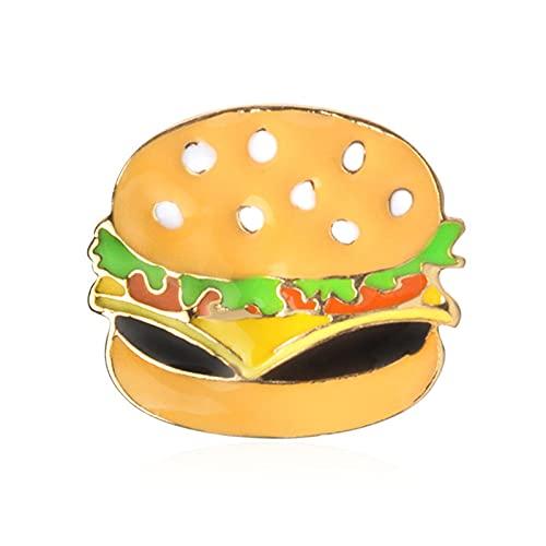 Ruby569y Broche creativo lindo broche para chaquetas, mochilas de ropa, creativa mini hamburguesa pizza, perro caliente, pin de solapa para disfraz de joyera para decoracin de ropa, 1