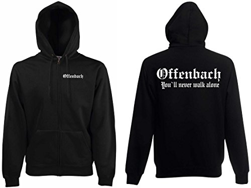 world-of-shirt Herren Kapuzenjacke Offenbach Ultras