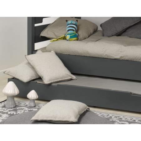 Alfred & Compagnie Tiroir de lit gris 90x190 pour lit 29cm sous pan