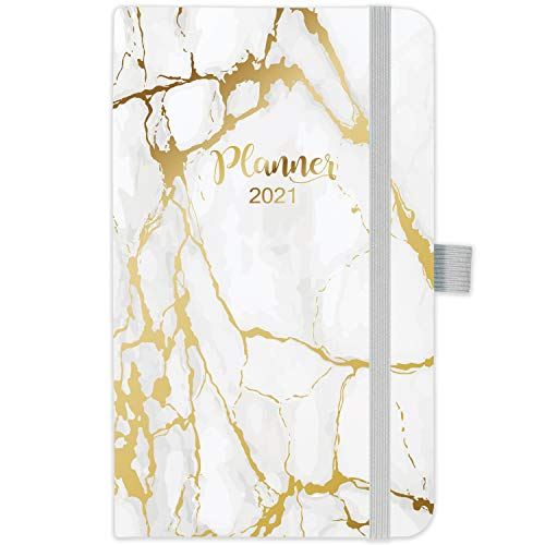 2021 Pocket Planner/Calendar - Weekly & Monthly Pocket Planner, Jan - Dec 2021, Agenda Planner and Schedule Organizer with Pen Holder, Bonus Note Pages and Inner Pocket
