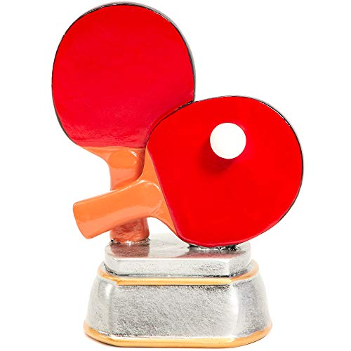 Juvale Trofeo de ping pong, premio de tenis de mesa para deportes (5.5 x 4.25 x 2.75 pulgadas)
