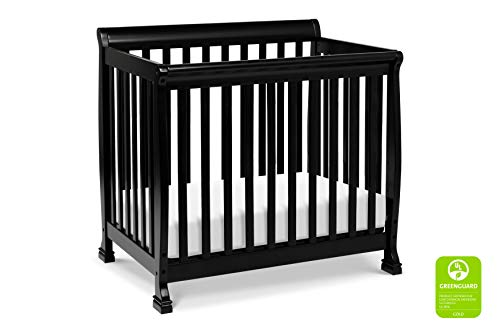 DaVinci Kalani 4-in-1 Convertible Mini Crib in Ebony | Greenguard Gold Certified