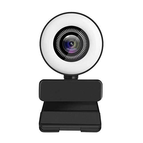 Gojiny Cámara web USB, cámara web duradera de 1080P con anillo ajustable incorporado para PC Mac portátil escritorio