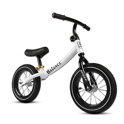 YHLZ Bicicleta de equilibrio de los niños, los niños Equilibrio Formación Bicicleta Bicicleta Bicicleta Hijos no Pedal Asiento Bastidor de la bicicleta con acero al carbono con neumáticos de aire Kids