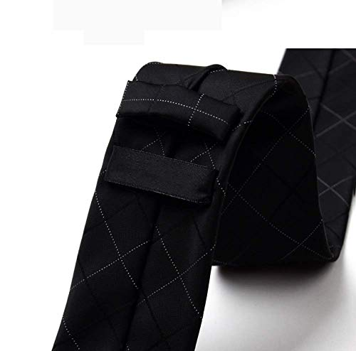 Hjyi Corbata de Vestir para Hombre, Corbata Nano Negra Impermeable ...