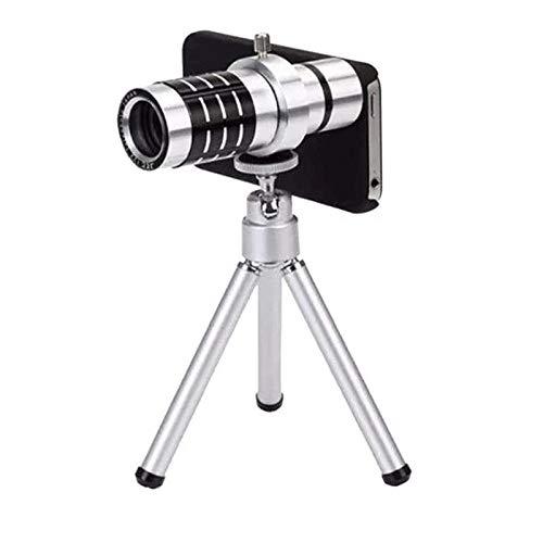 LYDIANZI HD Monoculares Impermeable Telescopio de Aluminio Monocular HD Telescopio 12x Mini Telescopio de teléfono móvil HD Adecuado para Viajes al Aire Libre