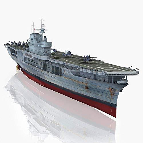 1yess Kits Modelo Acorazado Militares, 1/700 Escala USS Enterprise CV-6 Rompecabezas de plástico Juguetes for Adultos y Objetos de colección