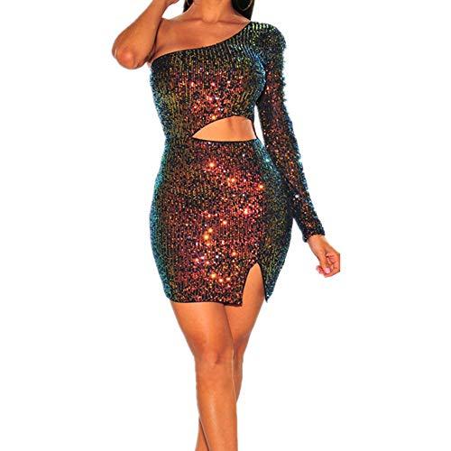 N\P Vestido de mujer para discoteca con lentejuelas, para otoño e invierno