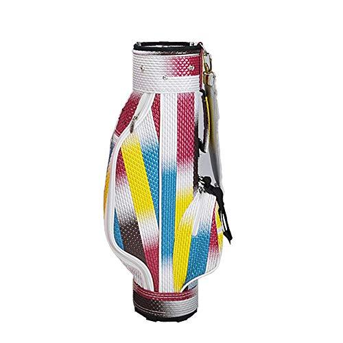 Golftaschen Junior komplette Golf Club Bag for Kinder Kinder Jungen und Mädchen Golf Stand Bag Kids Golf Tragetasche (Color : Colorful, Size : 72cm Height)