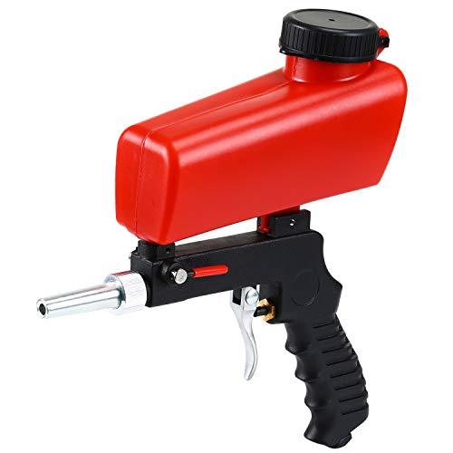 Holulo Sandblaster Sand Blaster Gun Kit Sand Blaster Handheld Gun Soda Blaster Media Sandblaster Gun, Spot Blaster, Media Blaster Sandblast Gun, Walnut, Bead, Sand Blast Blasting Equipment.