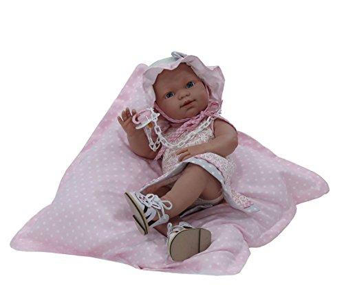 Nines Artesanals d'Onil - Bambola Baby Neonato da Collezione con Cuscino in Omaggio (426)
