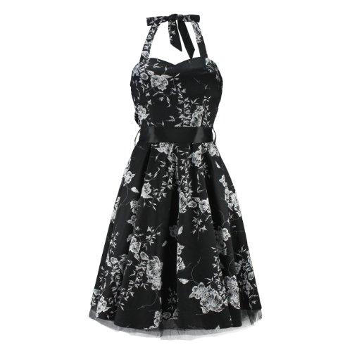 H&R London - Vestito da donna Nero Nero