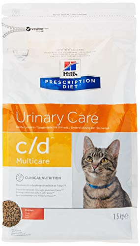 Hill's Prescription Diet Urinary Care c/d Multicare per problemi urinari Mangime secco gusto pollo, 1.5 kg
