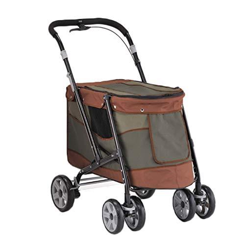Hond kinderwagen Huisdier Kinderwagen Opvouwbare Huisdier Kinderwagen Uit Licht Vier Wiel Met Remhond Baby Outdoor Auto Liefde Hond Persoon